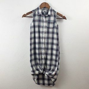 Old Navy Flannel Button Down Maxi Small 6/7